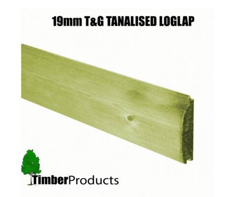T/&G Pressure Treated loglap Cladding Ex 125mm x 22mm Price Sold Per Meter