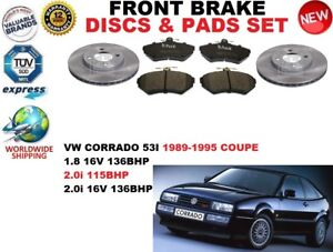 para-VW-CORRADO-Coupe-1-8-2-0-16v-89-95-Discos-freno-Delantero-Set-PASTILLAS