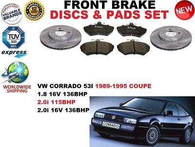 Volkswagen Corrado Coupé 1989-7//1996 1.8 2.0 2.9 Arrière Plaquettes De Frein Set W87-H53-T15