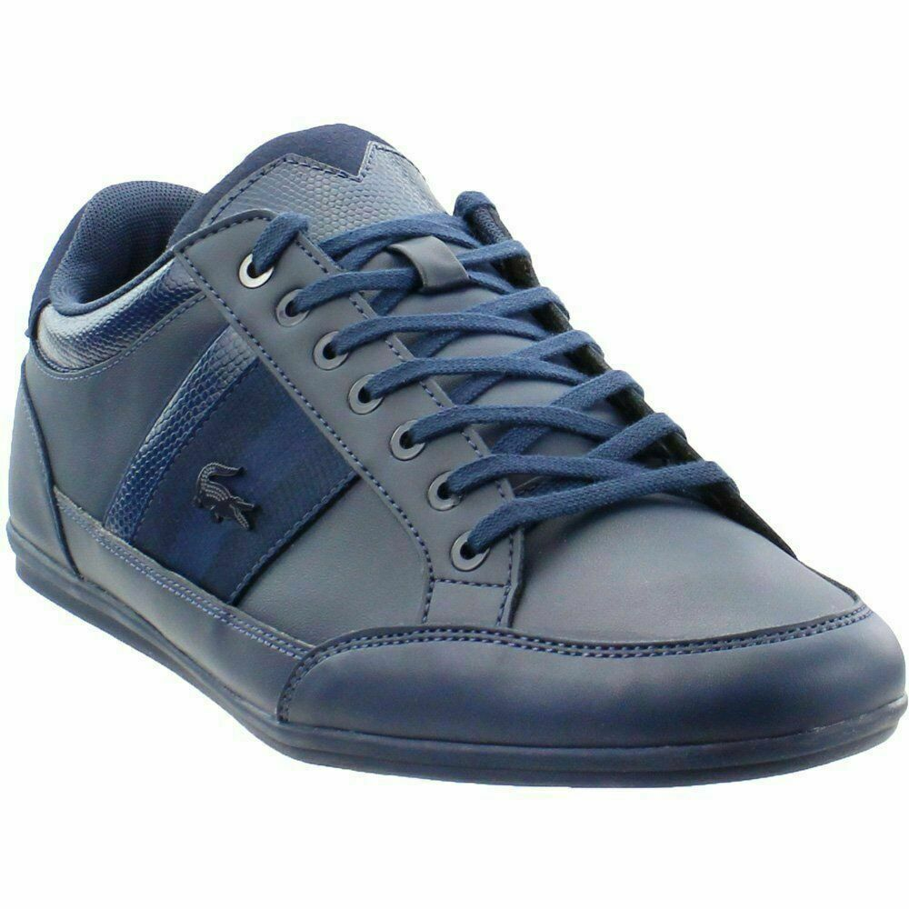 Lacoste Chaymon 119 2 Cma Mens bluee Leather Lace Up Sneakers shoes New