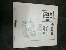 Bobcat 331 331e 334 Service Manual
