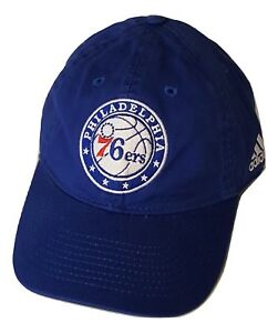 3cdd6ad2f0e Image is loading Philadelphia-76ers-Cap-Slouch-Style-Adjustable-Logo-Hat-