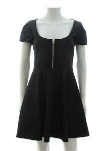 Miu-Miu-Zip-Detailed-A-Line-Dress-Black