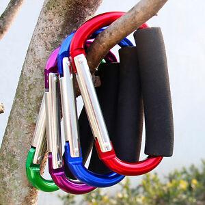 2Pcs-Universal-Large-Buggy-Clip-Pram-Pushchair-Shopping-Bag-Hook-Carabiner
