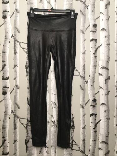 Spanx Faux Leather Leggings: Size M: Black #2437 (