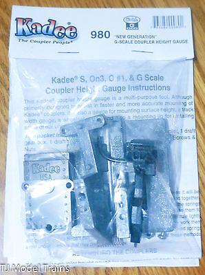 G Scale Coupler Height Gauge w//Type E Knuckle Kadee #980