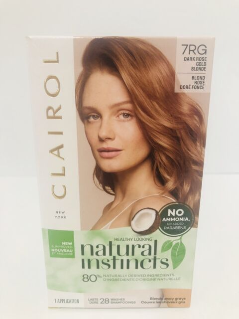 4 Clairol Natural Instincts Color 28 Washes 7rg Dark Rose Gold Blonde For Sale Online Ebay