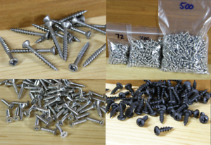 Screws-For-Bumper-Feet-Stainless-Steel-Square-Drive-2-Black-Zinc