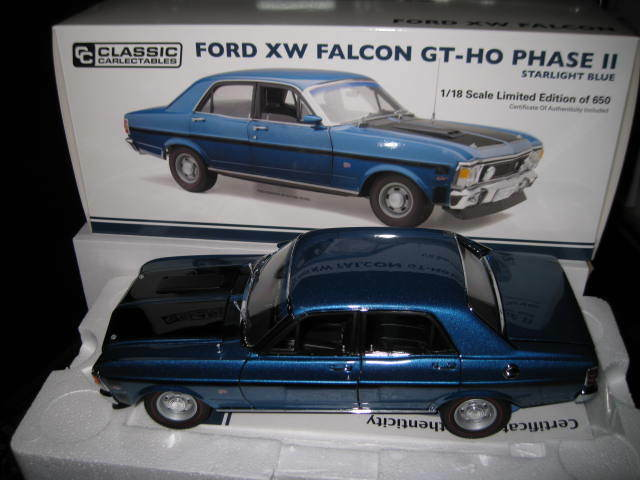 CLASSIC 1.18 FORD FALCON XW GT-HO PHASE 2 STARLIGHT blueE  18657 LTD ED OF 650
