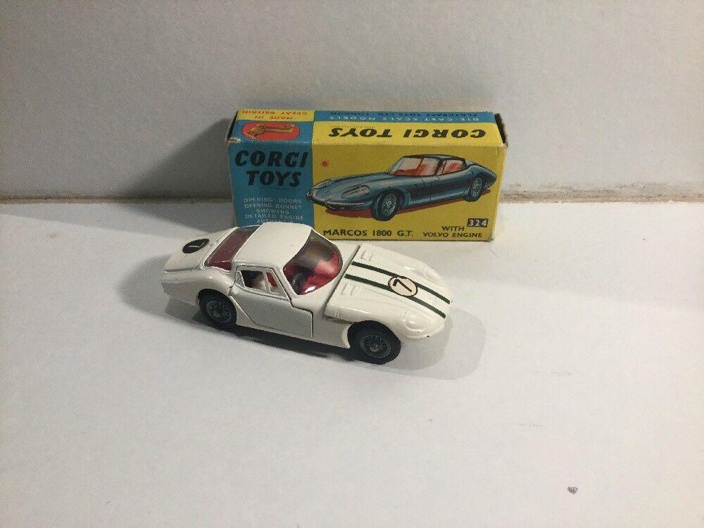 Original Corgi Toys No 324 Marcos 1800 GT Within Its Original Box