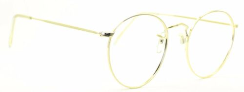 B.O.I.C. SAVILE ROW ENGLAND Gold 51x22mm PANTO Round RX Optical Eyeglasses NOS