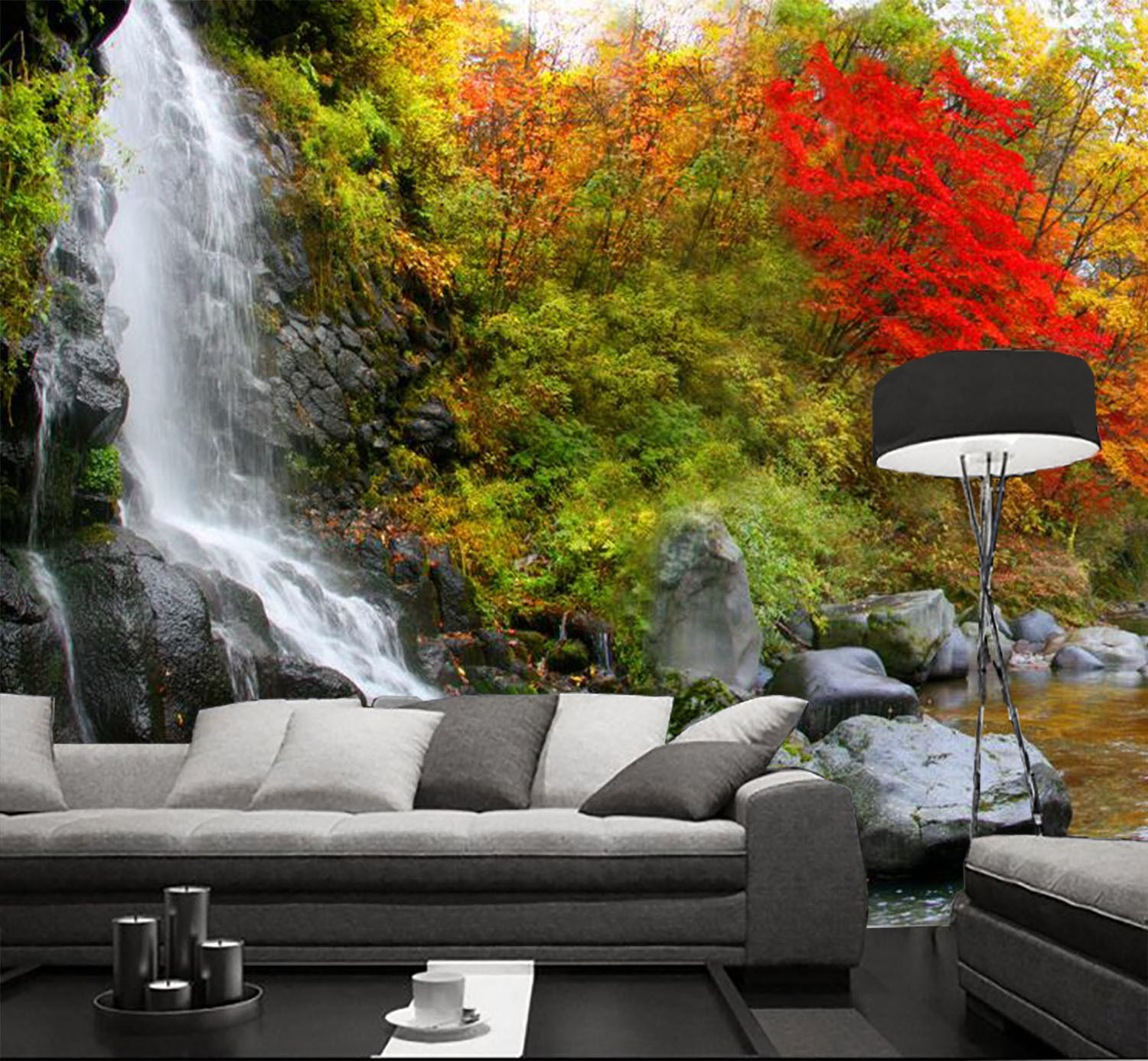 3D Pouring Water 656 Wall Paper Wall Print Decal Wall Deco Indoor Wall