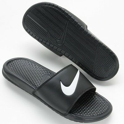 New Men's Nike Benassi Swoosh Slide Sandals NWT NEW Flip flops