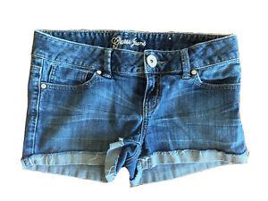 Guess Para Mujer Talla 28 Cintura Pantalones Cortos De Mezclilla Small Med Azul Cortar Jean Stretch Ebay