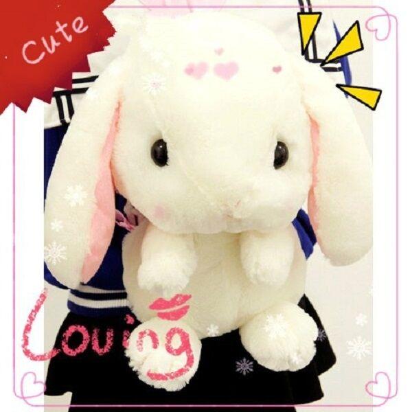 Amo Amuse  Lop-ear Rabbit  Backpack School Bag Lolita Cute Plush Toy Girl Women
