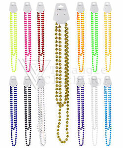 Unisex-perline-in-plastica-COLLANA-MARDI-GRAS-RAVE-fluorescente-Festival-Party