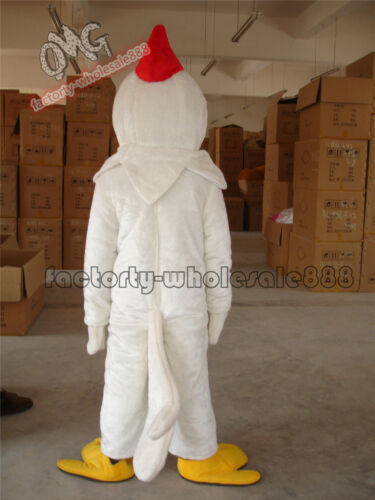 2019 Popular Adult Halloween White Chicken Rooster Mascot Costume fancy Dress