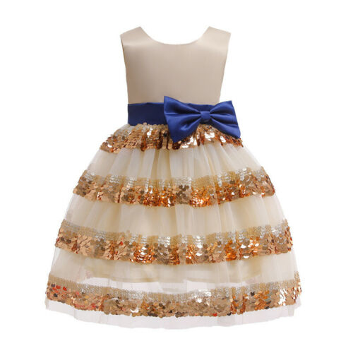 Flower Girls Kids Princess Party Formal Wedding Bridesmaid Ball Gown Tutu Dress