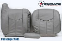 2003 Chevy Silverado -passenger Complete Replacement Leather Seat Covers Gray