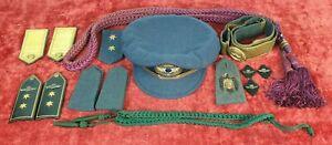 CAP-ET-INSIGNES-POUR-LE-COSTUME-DE-GALA-ARMEE-DE-L-039-AIR-ESPAGNE-1936-1939