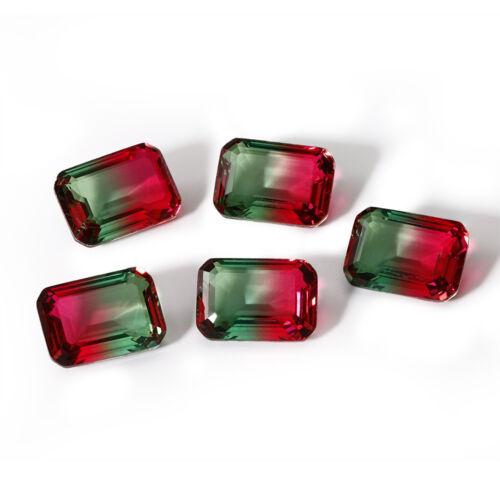 5-10 PCS 10 CT 12 16 MM Watermelon Tourmaline Emerald Cut Loose Gem Wholesale