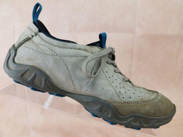Ecco Casual Shoe Womens Size 8.5 US 39 EU Gray Leather Sneaker