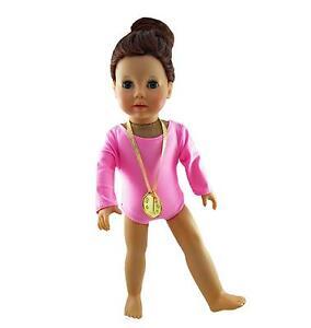 3012c2aeb8ba Doll Clothes Gymnastics Leotard Pink with Medal Fits 18 inch ...