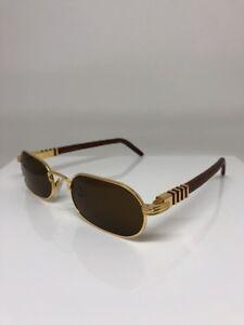 22bb6d56a3 New Vintage PORTA ROMANA Sunglasses Full Rim Gold   Wood Sunglass ...