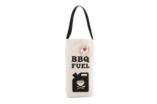 BBQ Fun Slogan Canvas Wine Bottle Gift Bag Ideal for Parties BBQ/'s Gift for Men