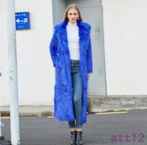 Fox Tykk Fur Outwear Fur Langvarig Frakke Kvinder Slim Overcoat Soft Tæppe Chic Winter OwqUWZ6
