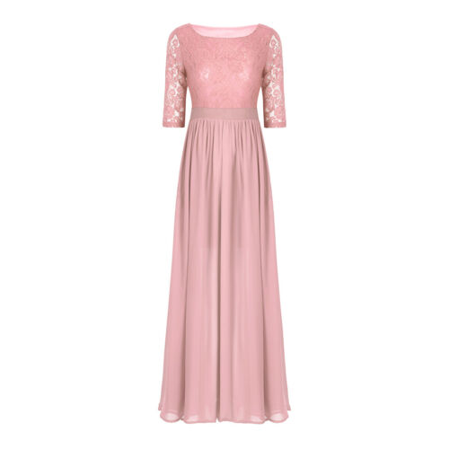 Womens Lace Long Bridesmaid Dress Formal Wedding Party Dresses Gowns Cocktail