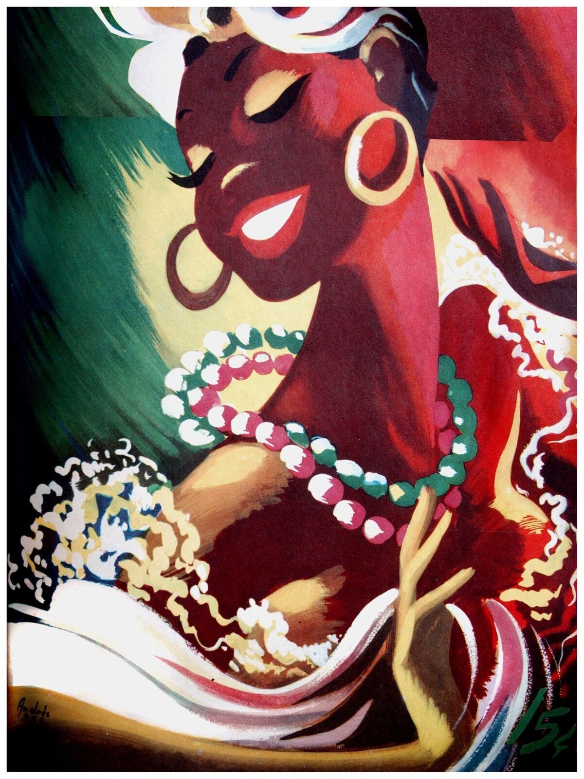 High Quality POSTER on Paper or Cotton Canvas.Home Decor art.Brazil Dancer.3845