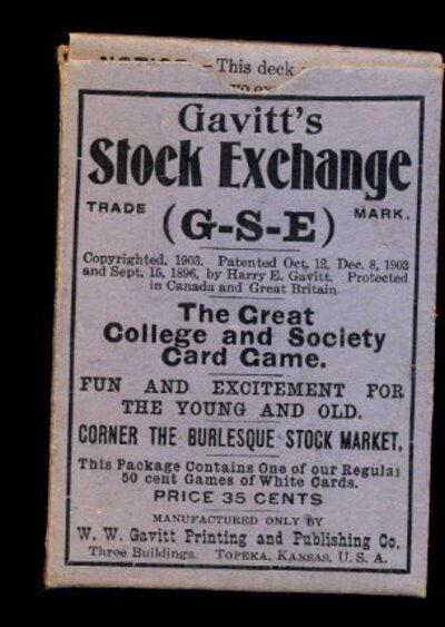 1903 Gavitt's Stock Exchange Coched Juego-difícil de encontrar