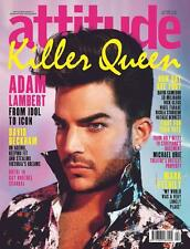 ATTITUDE Magazine GAY, Adam Lambert QUEEN NEW
