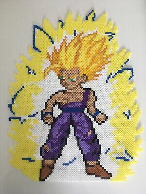 Pixel Art Perles A Repasser Dragon Ball Gohan Super Saien Avec Son Aura Ebay