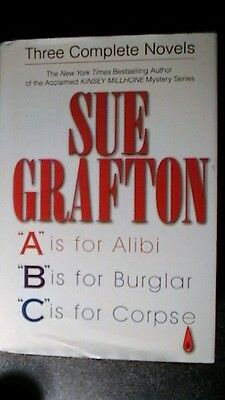 "Three Complete Novels : A, B, C ""ALPHABET MYSTERIES"" by Sue Grafton (Hardcover)"