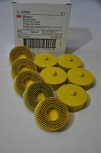 3M-07525-Scotch-Brite-Roloc-Bristle-Disc-PN-07525-2-in-x-5-8-Tapered-MED-10-Pcs
