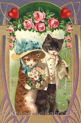Cats Wedding Roses Crazy Quilt Block Multi Sizes FrEE ShiPPinG WoRld WiDE