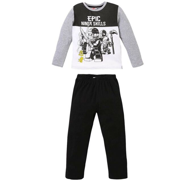 Boys Pyjamas Long Sleeve Set Nightwear Pjs Childrens 100/% Cotton 8-13 Years