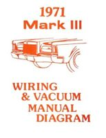 Lincoln 1971 Continental Mark Iii Wiring & Vacuum Diagram Manual 71