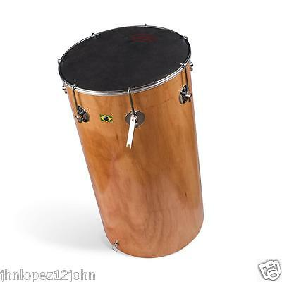 Brasilian African Tan Tam Tam Wood Shell Nappa Leather Head Drum Samba Capoeira Opruimingsprijs
