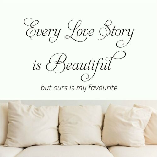 Every Love Story is Beautiful Wall Quote  Wall Art  Wall Stickers  Decorative