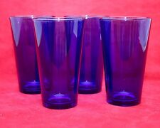 4 Libbey FLARE COBALT BLUE Coolers Tumblers Drinking glasses Cocktail