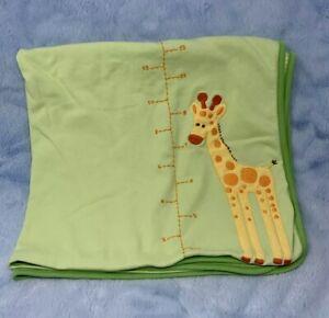 Receiving Blankets 2-pack Giraffes standing tall blue and green