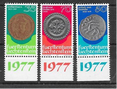 J341 Liechtenstein/ Münzen Auf Briefmarken Minr 677/79 ** Liechtenstein Europa