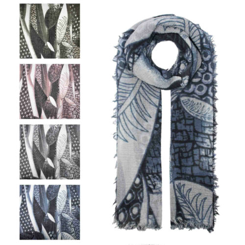 Finecy In Ladies/&Women Fashion Nature Leaf Print Soft Spring Summer Wrap Scarf