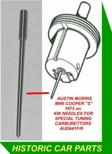 "1 x aguja /""Kw/"" para ajuste especial 1 3//4 /""HS6 su carbohidratos en bl Mini Cooper S 1973-on"