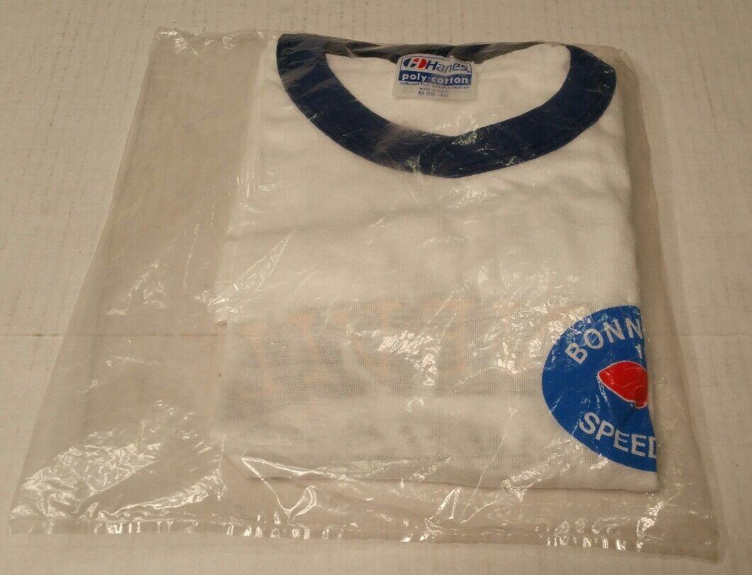 Rare Vintage 1985 37th Annual Bonneville Salt Flats Tee Shirt Weiß Medium