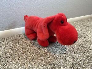 "TY  Beanie Buddy- Rover Red Puppy Dog 12"" Plush Stuffed Animal NWT Tag 1998"