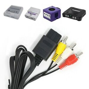 SNES-GameCube-TV-Cable-N64-AV-Video-Lead-RCA-Audio